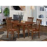 Winston Porter Amante 5 - Piece Butterfly Leaf Rubberwood Solid Wood Dining Set Wood in Brown, Size 30.0 H in | Wayfair