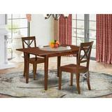 Winston Porter Glane 3 Piece Extendable Solid Wood Dining Set Wood in Brown, Size 30.0 H in | Wayfair CB1A0CE733DC435DBF37D177A1AA1DD6