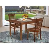 Winston Porter Aletha 3 Piece Extendable Solid Wood Dining Set Wood in Brown, Size 30.0 H in | Wayfair F6C6C76BE42D4BD89C35892C68923BDB