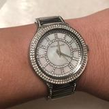 Michael Kors Accessories | 100% Auth-Michael Kors Kerry W Crystal & Pearl | Color: Silver | Size: 6 Wrist