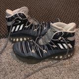 Adidas Shoes | Adidas Womens 7.5 Basketball Shoe | Color: Black/Gray | Size: 7.5