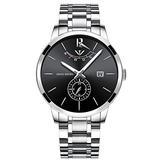 NIBOSI Watches Men Fashion Watch Luxury Brand Waterproof Full Steel Quartz Analog Wristwatch