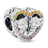 Simba and Nala Heart Charm by Pandora Jewelry - Official shopDisney®