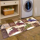 Abreeze Vintage Floor Mat for Washroom Non Skid Rubber Area Rug Farmhouse Carpet Waterproof Bathroom Rugs Laundry Room Mats Kitchen Rug 2x4