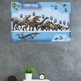 Trends International Jurassic World - Chart Paper Print Paper in Blue, Size 34.0 H x 22.375 W x 0.125 D in | Wayfair POD13607