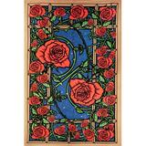 Winston Porter Cotton 3D Rose Window Tapestry Cotton in Black/Orange/Red, Size 60.0 H x 90.0 W in | Wayfair 7A67281304C54938AD79408DCC669819