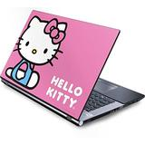 Skinit Decal Laptop Skin for Generic 15in Laptop - Officially Licensed Sanrio Hello Kitty Sitting Pink Design