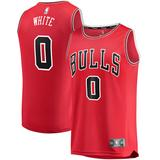 """""""Youth Fanatics Branded Coby White Red Chicago Bulls 2019 NBA Draft First Round Pick Fast Break Replica Jersey - Icon Edition"""""""