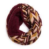MUK LUKS Women's Cold Weather Scarves Burgundy/Multi - Burgundy Infinity Scarf