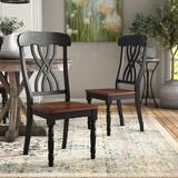 Kingstown Home Solid Wood Cross Back Side ChairWood in Black, Size 39.84 H x 19.88 W x 21.26 D in   Wayfair 1393BKS(3A)