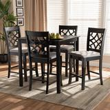 Winston Porter Parrella 5 Piece Counter Height Dining SetWood/Upholstered Chairs in Brown, Size 36.0 H x 35.4 W x 35.4 D in | Wayfair