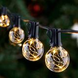 LED Outdoor String Lights - Novtech Waterproof Patio String Lights - 26FT 25Bulbs G40 Globe String Lights Outdoor Decorative String Lights for Backyard Pergola Party Bistro Porch Cafe - Connectable