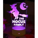 Etchey Night Lights - Witch Personalized Night Light