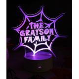 Etchey Night Lights - Spider Web Personalized Night Light