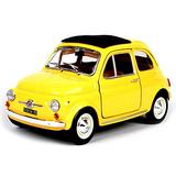 LMEI-Cars 1965 Fiat 500F Model Car, 1:24 Scale Model, Static Simulation Die-Casting Car, Metal Body, Finished Model, Gifts, Collectibles,Yellow