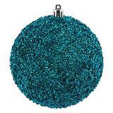 "Vickerman 532874-8"" Teal Beaded Ball Christmas Tree Ornament (2 pack) (N185942D)"