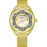 Stuhrling Original Womens Watches with Mother of Pearl Face with Gold Watch Case- Analog Dress Watch with Stainless Steel mesh Bracelet Wrist Watches for Women - Ladies Watch Collection