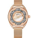 Stuhrling Original Womens Watches with Mother of Pearl Face with Silver Watch Case- Analog Dress Watch with Stainless Steel mesh Bracelet Wrist Watches for Women - Ladies Watch Collection