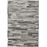 """Solo Rugs Cowhide Shire One of a Kind Hand Woven Area Rug, Smoke Gray, 6' 1"""" x 9' 1"""""""