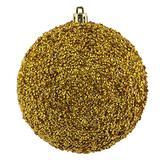 "Vickerman 532683-8"" Gold Beaded Ball Christmas Tree Ornament (2 pack) (N185908D)"
