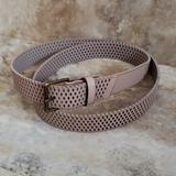 American Eagle Outfitters Accessories | Aeo Mauve Perforated Fully Adjustable Belt | Color: Pink | Size: Adjustable