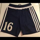 Adidas Bottoms | Adidas Soccer Shorts #16 Navywht Youth Small | Color: Blue/White | Size: Youth Small