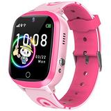 Kids Smart Watch for Boys Girls-Kids Smartwatch with Call SOS Alarm Clock Camera Calculator Music Player Voice Chat Tracker Watch Touch Screen Children Smart Watch Birthday Gifts for Kids Age 4-12