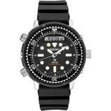 Solar Analog-digital Prospex Divers Black Silicone Strap Watch 47.8mm - Black - Seiko Watches