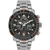 Analog-digital Promaster Skyhawk A-t Titanium Bracelet Watch 45mm - Metallic - Citizen Watches
