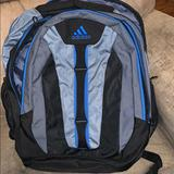 Adidas Bags | Adidas Like New Backpack. Laptop Area. | Color: Blue/Gray | Size: Os