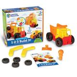 Learning Resources 1-2-3 Build It! Construction Crew, Multicolor