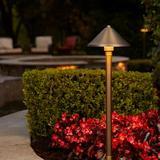 VOLT Lighting Bronze Low Voltage Pathway Light Metal in Brown, Size 25.0 H x 7.0 W x 7.0 D in | Wayfair BDL-310-4-G4-BBZ-WAY