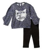Jessica Simpson Matching Sets   Jessica Simpson Kitty Top & Leggings Set 12m Nwt   Color: Black/Blue   Size: 12mb