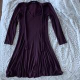 American Eagle Outfitters Dresses | American Eagle Eggplant Soft & Sexy Swing Dress | Color: Purple | Size: Xs
