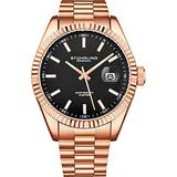 Stuhrling Original Watches for Men - Lineage Analog Dress Watch Mens Quartz Watch Watch Stainless Steel Bracelet Wrist Watch Luminous Hands and Markers - Mens Watch Collection (Rose Gold)
