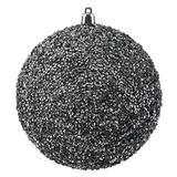 "Vickerman 532157-4.75"" Pewter Beaded Ball Christmas Tree Ornament (6 pack) (N185787D)"