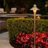 VOLT Lighting Bronze Low Voltage Metal Pathway Light Metal in Brown, Size 25.0 H x 5.0 W x 5.0 D in | Wayfair BDL-322-4-G4-BBZ-WAY