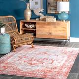 World Menagerie Radegund Area Rug Polyester/Chenille/Cotton in Red, Size 91.0 H x 63.0 W x 0.16 D in | Wayfair 370CCEBBEB644242BB795BA119E6CBF2
