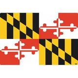 Ebern Designs Deemston Maryland Flag Desk Pad Plastic in Yellow, Size 24.0 H x 36.0 W x 0.01 D in | Wayfair D9B9F0E140604D8C9DE8D8C6F81C1CFB