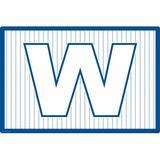 Winston Porter Bodkins W in Pinstripes Desk Pad Plastic in Blue, Size 24.0 H x 36.0 W x 0.01 D in | Wayfair D27CBF14D2CC4154829769FD20A4425E