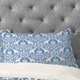 Dakota Fields Fishel Giraffe Damask Pale Pillowcase in Blue, Size Standard   Wayfair 51477-1pilqu