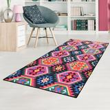 World Menagerie Hedda Pink/Area Rug Polyester in Blue, Size 78.0 H x 39.0 W x 0.4 D in | Wayfair 4DAFBEB976704A859A7ADA6AE5B63C7A