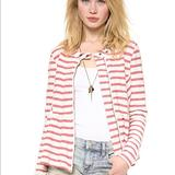 Free People Jackets & Coats | Free People Women'S Red Jacket Striped Peplum | Color: Red | Size: S