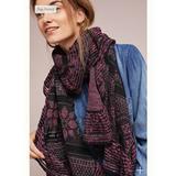 Anthropologie Accessories   Cecelia Prado Mia Ruffled Metallic Scarf Os   Color: Brown/Purple   Size: Os