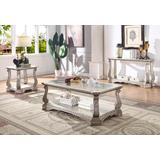 Northville Coffee Table in Antique Champagne & Clear Glass - Acme Furniture 86930