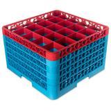 Carlisle RG25-5C410 OptiClean? Glass Rack w/ (25) Compartments - (5) Extenders, Blue