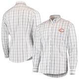 Men's Antigua White/Navy Chicago Bears Keen Long Sleeve Button-Down Shirt