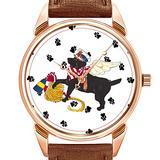 Mens Watches Fashion Luxury Quartz Watch Business Waterproof Luminous Watch Men Brown Leather Watch Christmas Gulliver's Angels Black Sailor Labrador Wristwatch