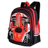 "Lemcool Waterproof Kid Backpack Children Backpack 3D Cartoon Car 16.5"" Child School Bookbag (Red), Medium"