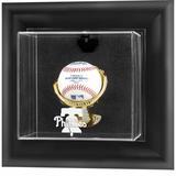 """Philadelphia Phillies Black Framed Wall-Mounted 2019 Logo Baseball Display Case"""